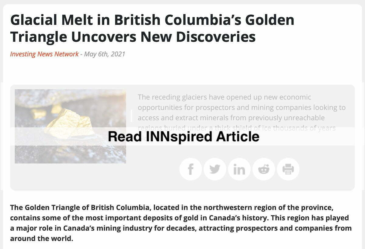 Glacial Melt In British Columbia's Golden Triangle Article